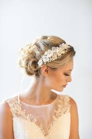 wedding hair with headband wedding headpiece bridal hair accessory bridal ribbon headband