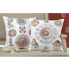 sophisticated sealife anemone pillow furniture home decor and