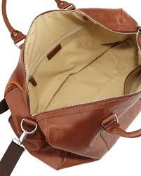 cole haan large leather duffle bag in brown for men lyst