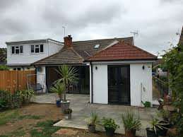 Single Pitch Roof Single Storey Rear Extension U0026 New Patio Herne Bay Kent Jp