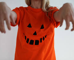 easy pumpkin halloween tutorial using a t shirt