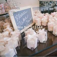 macaron wedding favors free shipping 50pcs 5cmx5cmx5cm bomboniere favor square clear