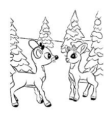 baby deer coloring kids coloring
