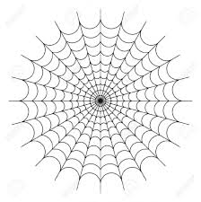drawing of a spider web how to draw a simple spider web youtube
