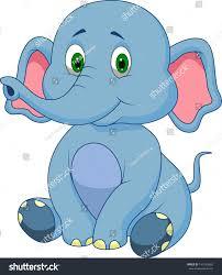cute baby elephant cartoon stock vector 140164282 shutterstock