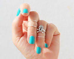 online get cheap skull nail stacked ring aliexpress com alibaba
