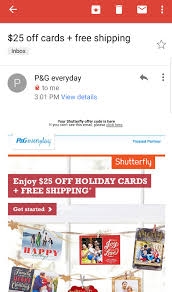 25 cards free shipping at shutterfly from p g everyday
