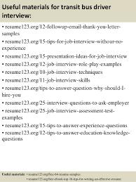 Sample Bus Driver Resume by Top 8 Transit Bus Driver Resume Samples