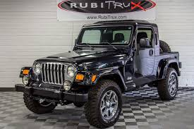 jeep wrangler pickup black rubitrux jeep wrangler unlimited tj truck conversions for sale