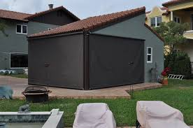 Wind Screens For Decks by Screens And Outdoor Shades In Ma Retractable Sondrini Com