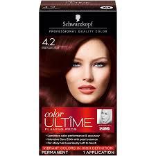 mahogany hair color chart schwarzkopf color ultime hair color cream 4 2 mahogany red