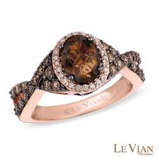 le vian chocolate quartz and 5 8 ct t w ring in 14k - Levian Engagement Rings