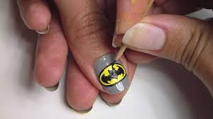 batman nail art youtube