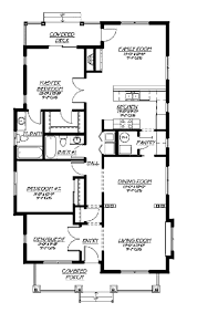 Ranch Style Bungalow Bungalow Style House Plan 3 Beds 2 Baths 1500 Sq Ft Plan 422 28