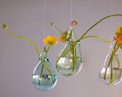 Hanging Glass Wall Vase Blown Glass Vase Etsy