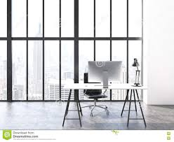 Office Table Front View Office Interior Front Stock Illustration Image 72076315