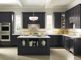 Painted Kitchen Cabinet Images by Black Distressed Kitchen Cabinets Image Of Black Painted Kitchen
