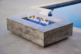 Concrete Firepit Concrete Outdoor Pit Propane Gas Pit