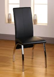 Faux Leather Dining Chairs With Chrome Legs Leather Dining Chair