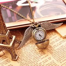 pendant pocket watch necklace images Zapals antique harry potter golden snitch pocket watch necklace jpg