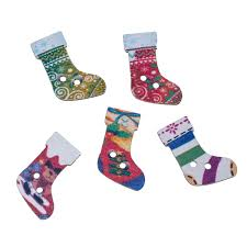 online buy wholesale wooden buttons christmas stocking sewing from
