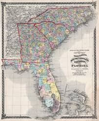 Florida Towns Map File 1874 Beers Map Of Florida Georgia North Carolina And South