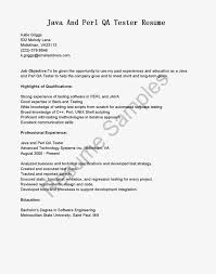 Resume Format For Experienced Software Tester Qa Cover Letter