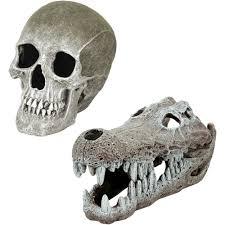 aqua culture large skull aquarium ornament walmart