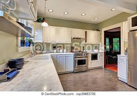 kitchen cabinet marble top bright kitchen interior with white cabinets and marble counter top