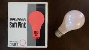 sylvania 100watt soft pink light bulbs
