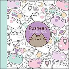 amazon pusheen coloring book 9781501164767 claire belton