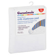 Vinyl Crib Mattress Cover by Garanimals Fitted Fleece Crib Mattress Pad Walmart Com