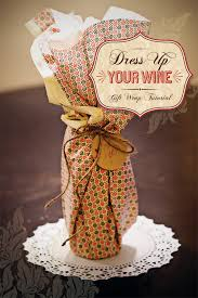 wine bottle gift wrap diy tutorial wine packaging gift wrap idea hostess with the
