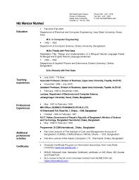 simple resume format sle doc resume format teacher india resume ixiplay free resume sles