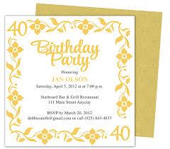 free 40th birthday invitation template u2013 orderecigsjuice info
