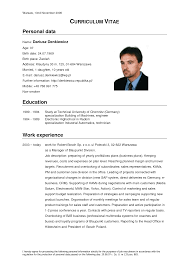 Format Sample Of Resume by Example Cv Resume