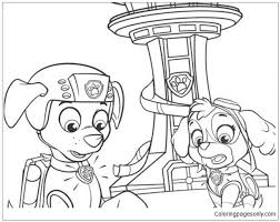 paw patrol zuma sky coloring free coloring pages