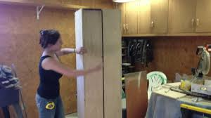 Woodworking Plans Garage Cabinets by Diy Rolling Storage Cabinet Youtube