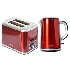 Red 2 Slice Toaster Buy Brabantia Bqpk11 Red Breakfast Kettle And 2 Slice Toaster Set