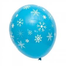 snowflake balloons 5 frozen blue snowflake balloons candle cake party shop