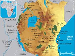 Map Of Rwanda Map Of Central Africa National Parks Map 4 12 East Africa