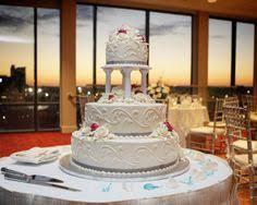wedding cake with city skyline millennium bostonian hotel boston
