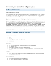 Hints For Good Resumes Top Tips On How To Write Your Examples Of Good Resumes That Get