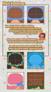 acnl hair color guide animal crossing new leaf hair masterpost includes templates for