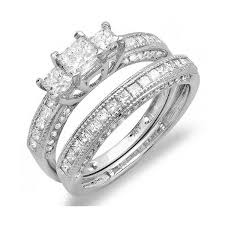 princess cut wedding set ring wedding set special princess cut diamond engagement ring