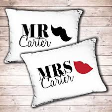 wedding gift hers uk personalised mr and mrs wedding gift pillowcase set his and hers
