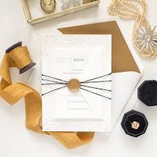 elegant wedding invitations gold vintage letterpress