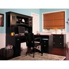 Dark Wood Office Desk Furniture Stunning L Shaped Desk With Hutch For Office Or Home