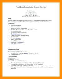 Medical Front Desk Resume Sample Resume Sample For Front Desk Receptionist Open Office Resume