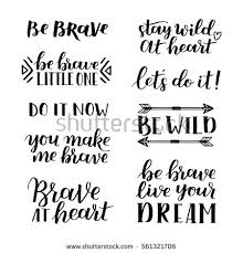 set quotes about courage stock vector 561321706